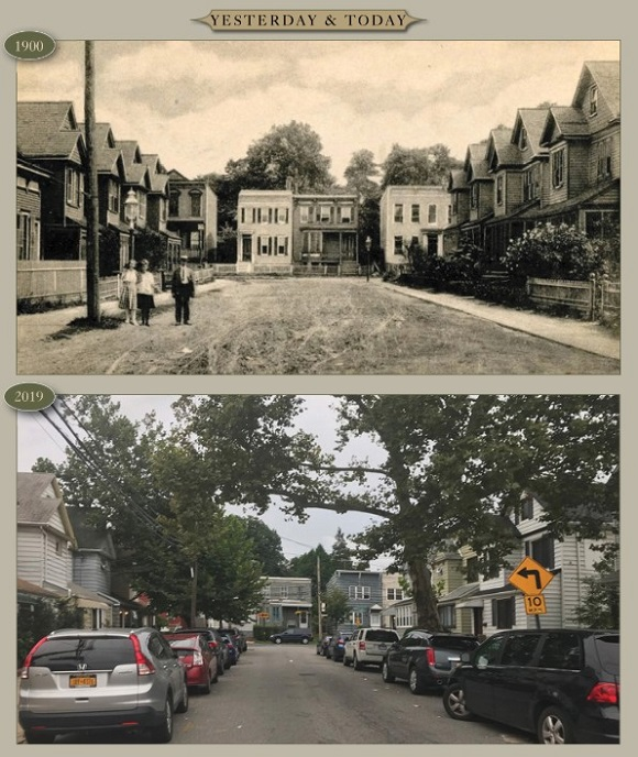 Yesterday & Today: 66th Street at Grand Avenue, looking south