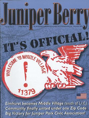 The Juniper Berry December 2002 Cover