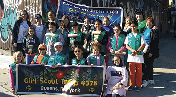 Agents for Change: Girl Scout Troops 4378 & 4509 Clean Chronic Eyesore