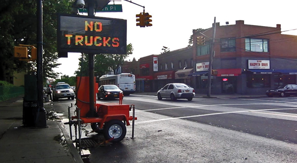 "BERRY BITS: ""No trucks"" sign placed along Grand Ave"
