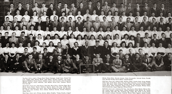 Junior High School 73 Maspeth, graduating class, June 1944