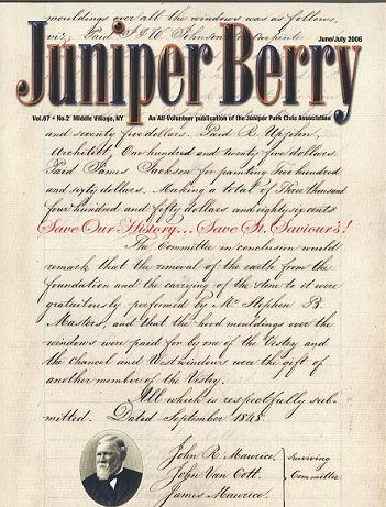 The Juniper Berry June 2006 Cover
