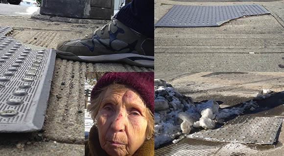 Pedestrian pads become trip hazards