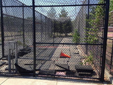 THINGS THAT ARE DUMB: Batting cage looking worse for wear