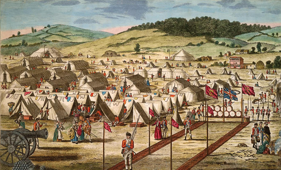 The British Encampment on the Hill