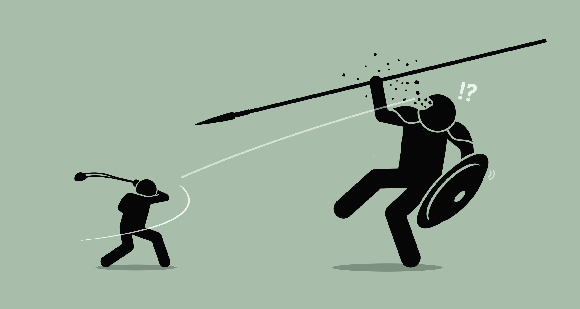 How David unseated Goliath