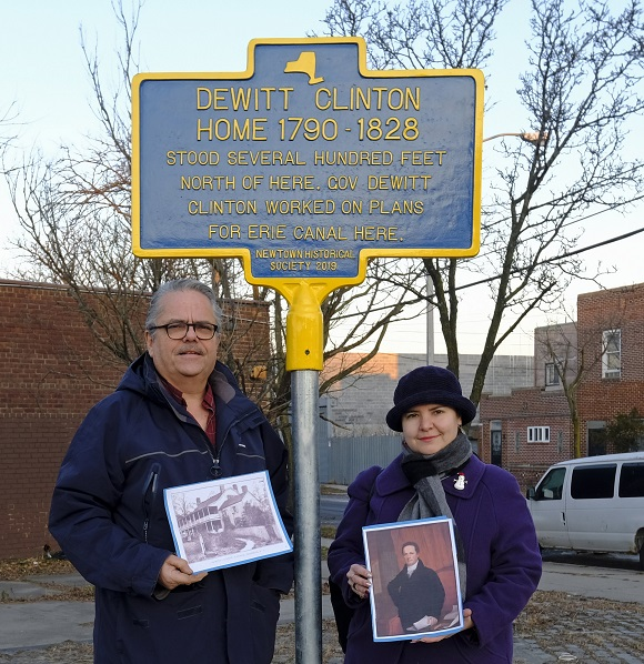 Historic Marker Dedicated to DeWitt Clinton Home ​Installed in Maspeth