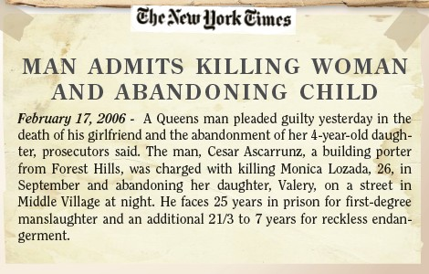 Amazing Stories: Man admits killing woman and abandoning child