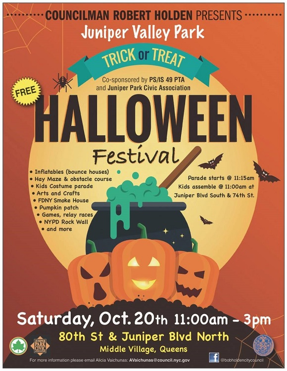 Juniper Valley Park Halloween festival October 20th