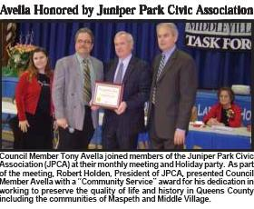 Councilman Avella Receives 2006 JPCA Community Service Award