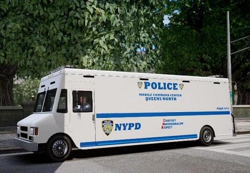 NYPD Mobile Command Center stationed on 69th Street