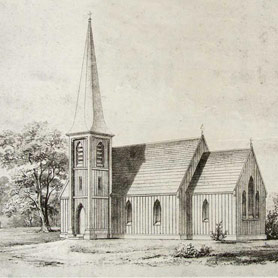 """The Serious Side of """"Carpenter Gothic:"""" Why Richard Upjohn Wanted to Build a Country Church in Maspeth"""
