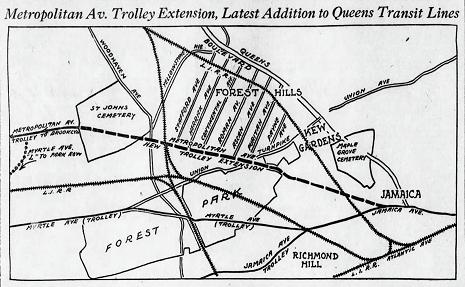 Metropolitan Avenue trolley extended 100 years ago