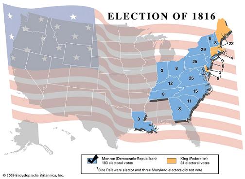 Presidential politics in 1816