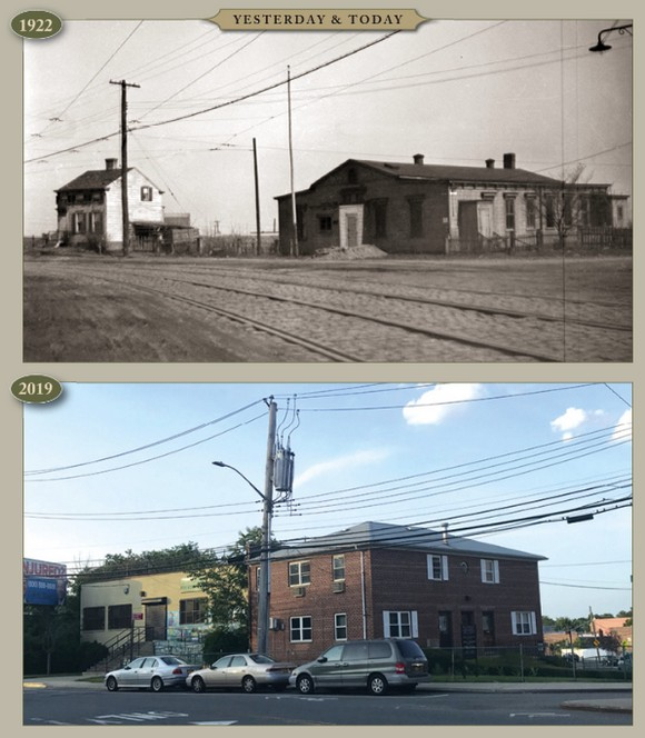 Yesterday & Today: 69th Street looking northeast at Juniper Valley Road, 1922