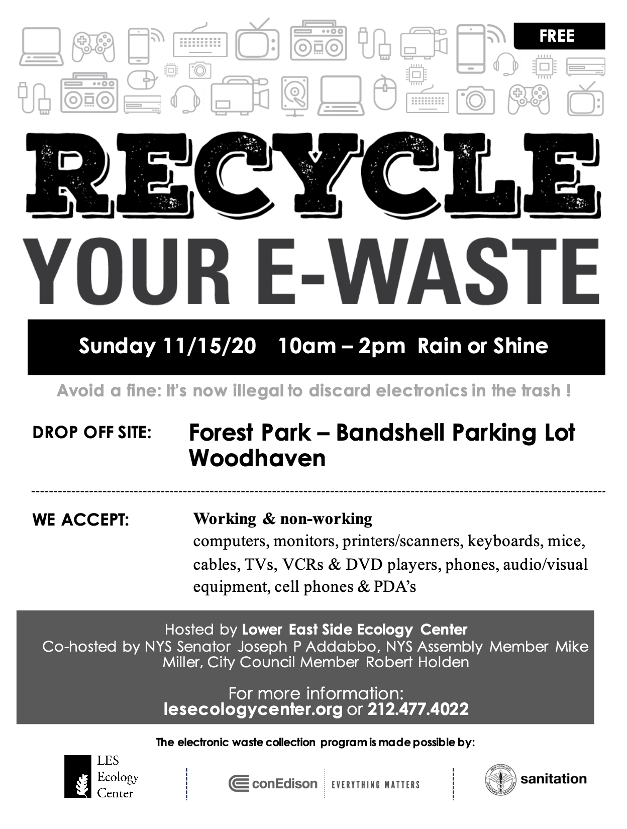 E-Waste Recycling Event: Forest Park