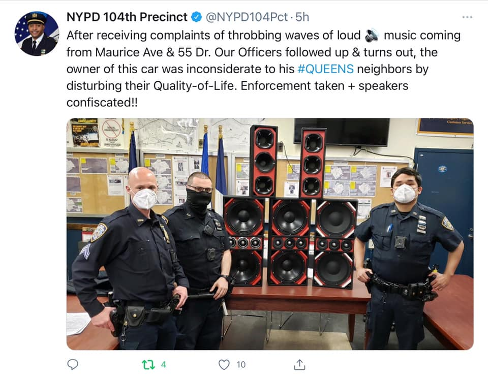 NYPD shutting down the noise