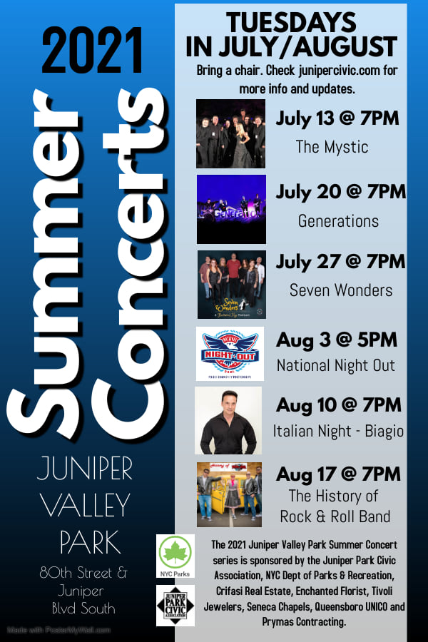 JPCA presents the 2021 Summer Concert Series