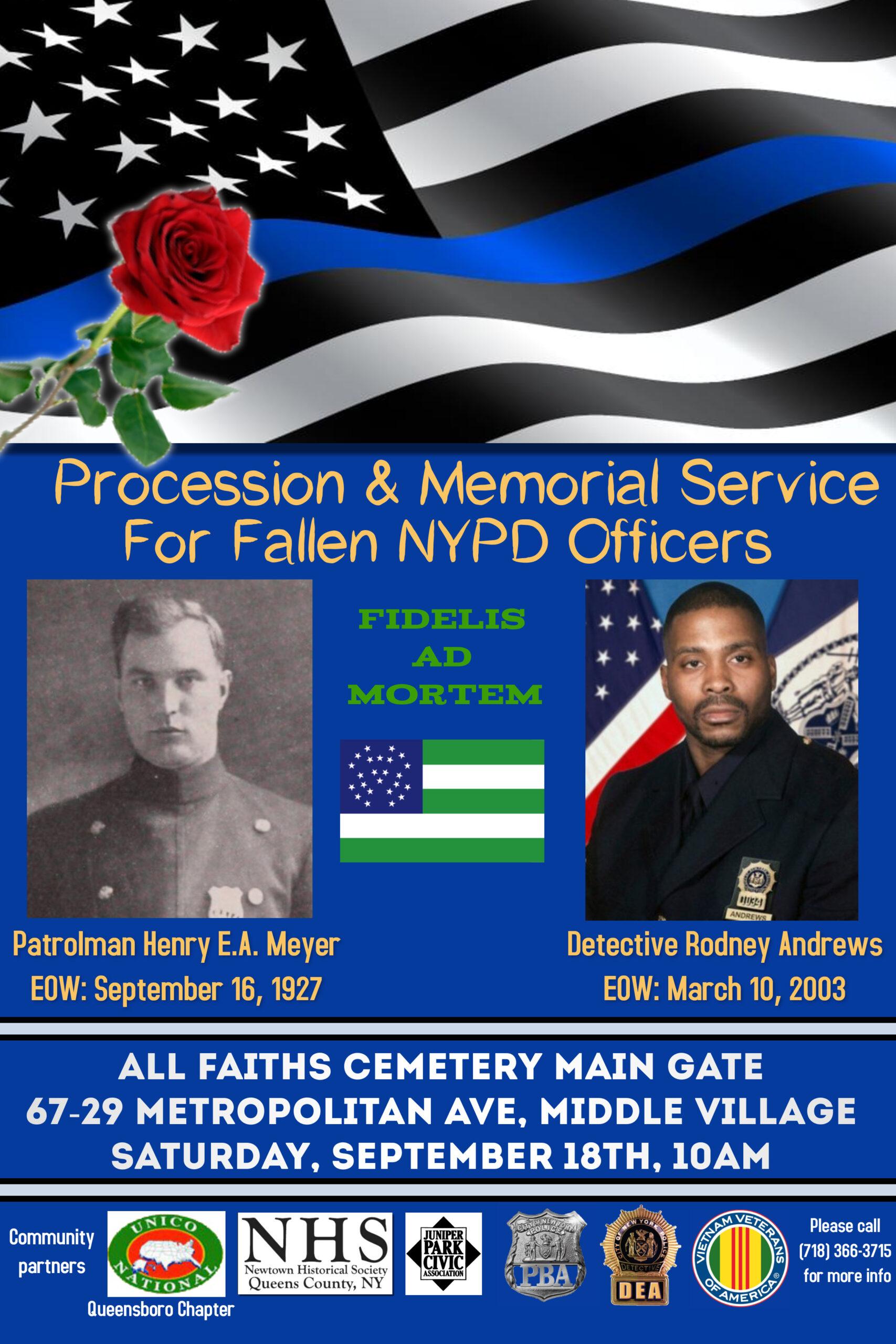 Annual police memorial event 9/18