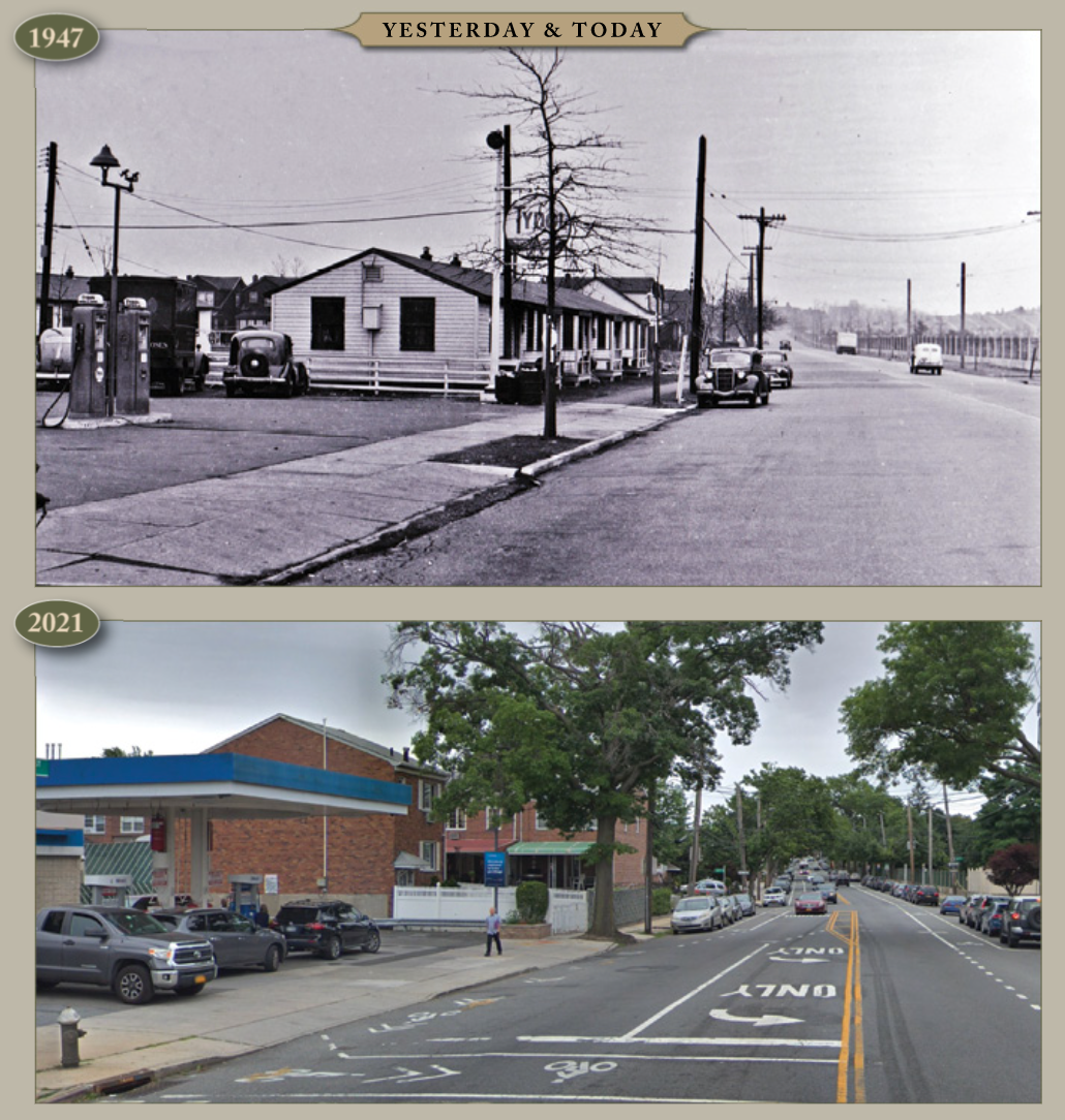 Yesterday and Today: 69th Street and Eliot Ave, 1947