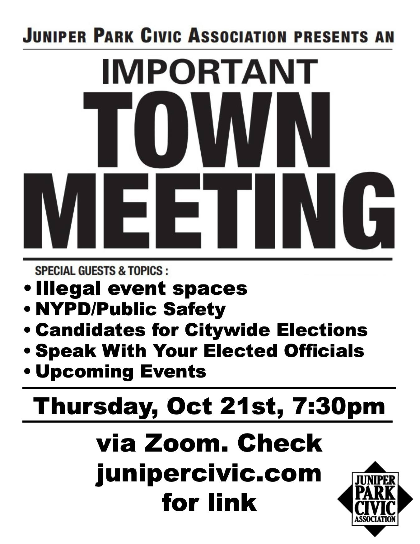 Town Meeting this Thursday